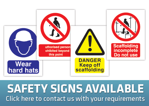 scaffold safety signs made from correx