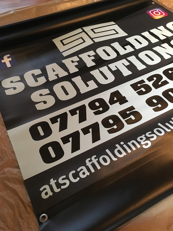 double sided scaffold banner signs
